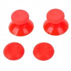 Plastic + Silicone Joystick Caps w/ Anti-slip Covers for XBOX ONE - Red (2 Set)