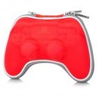 PROJECT DESIGN Shockproof Protective Zipper Bag w/ Strap for PS4 - Red
