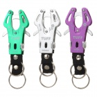 TUFF Convenient Outdoor Durable Aluminum Alloy Carabiner - Purple + Green + Silvery White (3 PCS)