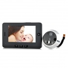 Danmini YB-43HD 4.3'' TFT LCD Digital Visible Doorbell w/ Peephole - Black