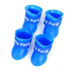 Anti-slip Rain Shoes for Pet Dog Cat - Blue (4 PCS /  Size S)