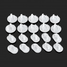 Three-phase + Two-phase Plug Seat Electrical Baby Security Socket Cover - White (20 PCS)