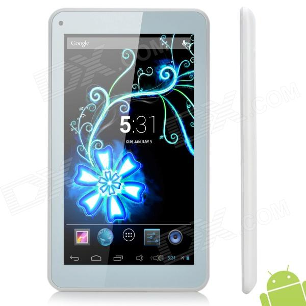 "M751 7 ""Dual Core Android 4.2 Tablet PC w / ROM 4GB / WiFi / G-Sensor / TF - blanc"