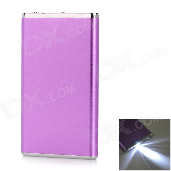 3.7V 5600mAh Power Bank Charger w/ Flashlight for IPHONE 5 / 5S / 5C / 4 / 4S / 3G / 3GS - Purple 3 7v 5600mah li ion battery power bank w flashlight for iphone 5 5s more dark pink