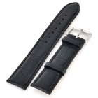 Chimaera coccodrillo Handmade del modello del cuoio genuino Watch Band Strap - Black (22 millimetri)