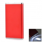 "3.7V ""5600mAh"" Power Bank Charger w/ Flashlight for IPHONE 5 / 5S / 5C / 4 / 4S / 3G / 3GS - Red"