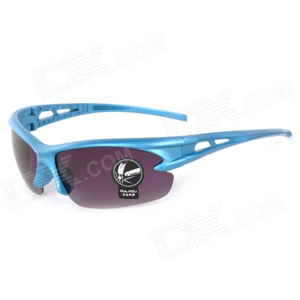 Oulaiou 3105 Stylish Outdoor Sports Windproof UV400 Goggles Sunglasses for Cycling - Blue + Purple topeak outdoor sports cycling photochromic sun glasses bicycle sunglasses mtb nxt lenses glasses eyewear goggles 3 colors