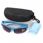 Oulaiou 3105 Stylish Outdoor Sports Windproof UV400 Goggles Sunglasses for Cycling - Blue + Purple