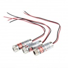 HW HLM250 DIY 5mW 650nm Headega Laser Focusable - Argento (4,5 ~ 5V / 3 PCS)