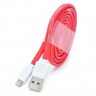 MFi LIN SHIUNG ihave 8-Pin Lightning Charge & Sync Data Flat Cable for IPHONE 5S / IPAD - RED