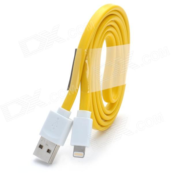MFi LIN SHIUNG ihave 8-Pin Lightning Charge & Sync Data Flat Cable for IPHONE 5S  IPAD - Yellow