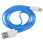 MFi LIN SHIUNG ihave 8Pin Lightning Flat Cable for IPHONE5S/IPAD -Blue
