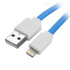 MFi LIN SHIUNG ihave 8-Pin Lightning Charge & Sync Data Flat Cable for IPHONE 5S / IPAD - Blue