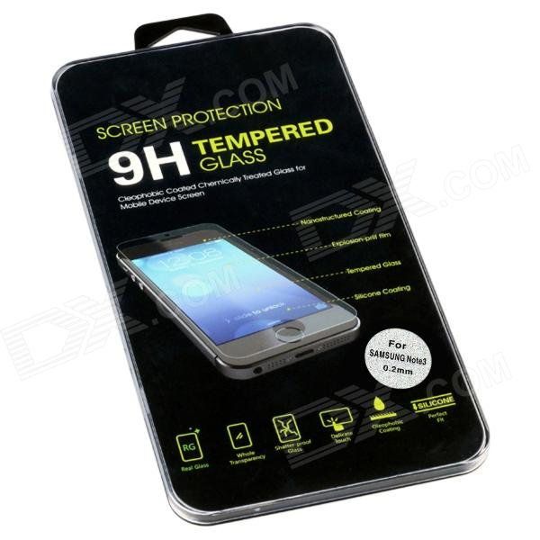 Classic Black Pattern 0.2mm Premium Tempered Glass Screen Protector for Samsung Galaxy Note 3