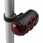 SF-BSR Dual Row 10-LED 4-Mode Red Safety Bike Rear Light - Red + Black (2 x AA)