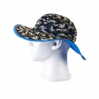 EQ06 Outdoor UV Protection Fishing Cap Hat - Blue + Camouflage