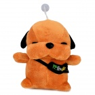 Stray Dog Style Plush PP Cotton Toy w/ Light - Brown (2 x AA)