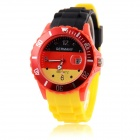 Men's 2014 Football Cup Germany Flag Pattern Date Display Quartz Wrist Watch