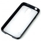 Protective Frosted TPU + PC Back Case for Samsung Galaxy S5 - Black + Translucent White