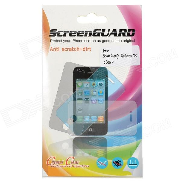 Protective PET Clear Screen Protector Guard Film for Samsung Galaxy S5 - (5 PCS)