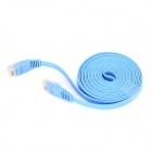 RJ45 Male to Male Flat Network Cable - Blue (2m)