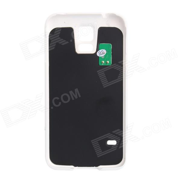 5V 2800mAh External Power Back Battery Case Stand for Samsung Galaxy S5 - White user