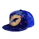 Fashionable Outdoor Big mouth Style Cotton Baseball Cap - Blue + Yellow