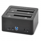 "ORICO 6629US3-C-BK USB 3.0 Dual-Slot 3.5"" / 2.5"" SATA HDD Docking - Black"
