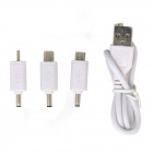 "Portable 0.6"" LCD 9000mAh Dual USB Power Source Bank w/ Charging Adapters for IPHONE + More - White"