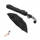 Big QingYuSan Creative Folding Western Gun UB Bask In The Sun Umbrella - Black + Silver Grey