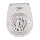 T-001 Hands-Free Bluetooth V3.0 Car Multimedia Speaker - White+ Grey