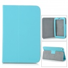 "Lychee Pattern Protective PU Case w/ Stand for 7"" Lenovo A3000 - Light Blue"