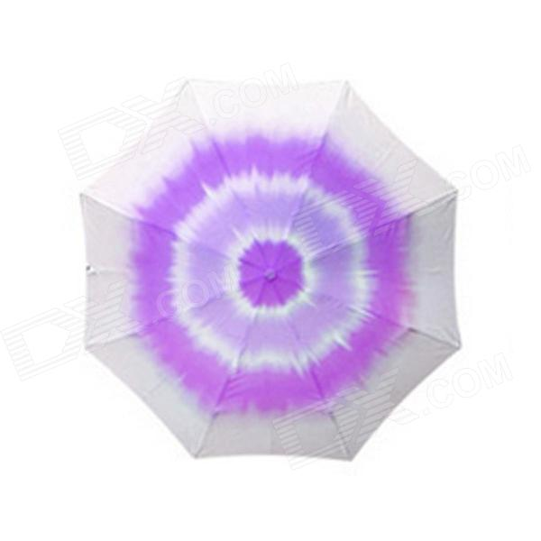 Creative Rose Style Folding Anti Ultraviolet Umbrella - Purple + White