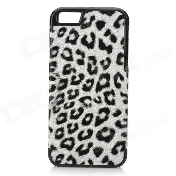 Leopard Pattern Protective ABS Back Case for IPHONE 5 / 5S - Black + White snake pattern protective leather abs back case for iphone 5 5s white black