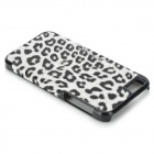 Leopard Pattern Protective ABS Back Case for IPHONE 5 / 5S - Black + White