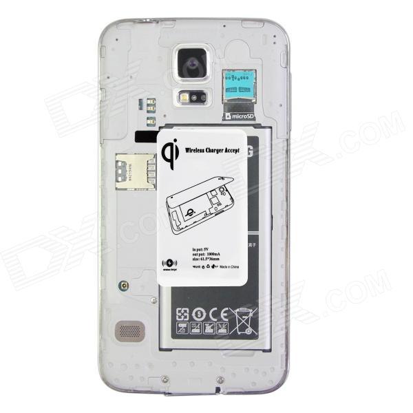 Wireless Charger Receiver for Samsung Galaxy S5 - White samsung g900h galaxy s5 16гб белый в омске