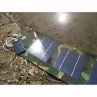 SOA-011 Portable 5V Dual USB Folding 10W Solar Powered Panel - Camouflage