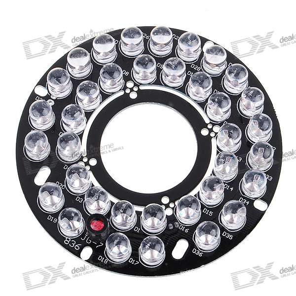 Infrared 36-LED Illuminator Board Plate for 12mm/16mm Lens CCTV Security Camera