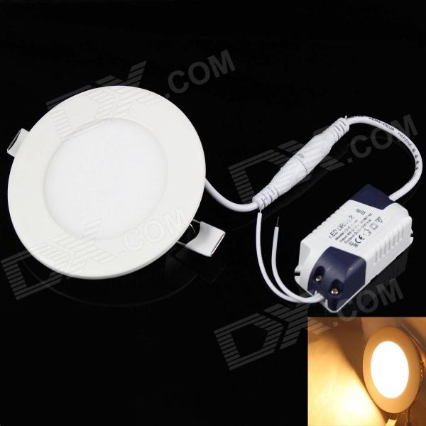 KINFIRE Round 3W 265lm 3000K 15 x SMD 3528 LED Warm White Light Ceiling Lamp w/ Driver (AC 85~265V)