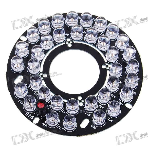 Infrared 36-LED Illuminator Board Plate for 8mm CCTV Security Camera pro svet light mini par led 312 ir
