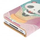 Kinston bella Panda modello protettivo PU Leather Case Cover per IPHONE 4 / 4S - multicolore