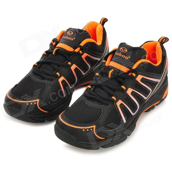 TIEBAO TIEBAO-B1285 Recreational Bicycle Cycling Shoes - Black + Orange (Size 44)