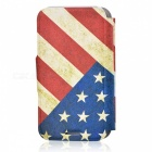 Kinston Vintage US Flag Pattern Protective PU Leather Case Cover for IPHONE 5 / 5S - Red + Blue
