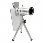 Detachable 12X Telephoto Lens Set for IPHONE 4 / 4S / 5 / 5S - Sliver