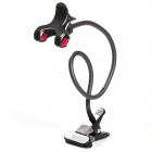 LENUO Universal Double Clip Lazy Desktop Flexible Neck Clip Holder - Black