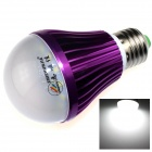 ZHISHUNJIA E27 7W 600lm 3000K 14 x SMD 5630 LED White Light Lamp Bulb - White + Purple (85~265V)