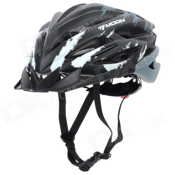MOON HB-31 Protective Outdoor Cycling Bike Helmet - Black + Grey