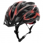 MOON MV-88-GJ Outdoor Cycling Bike Helmet - Black + Red (Size XL)