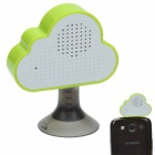 HAPTIME YGH-516 3.5mm Jack Mobile Speaker w/ Suction Cup Stand - White + Green