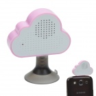 HAPTIME YGH-516 3.5mm Jack Mobile Speaker w/ Suction Cup Stand - White + Pink
